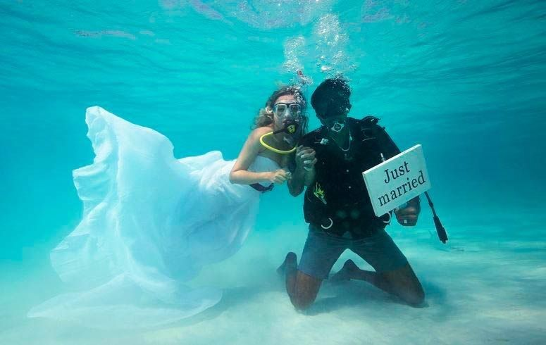 Underwater Wedding at Andaman Islands
