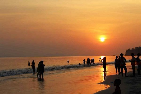 Sunset at Radhanagar Beach