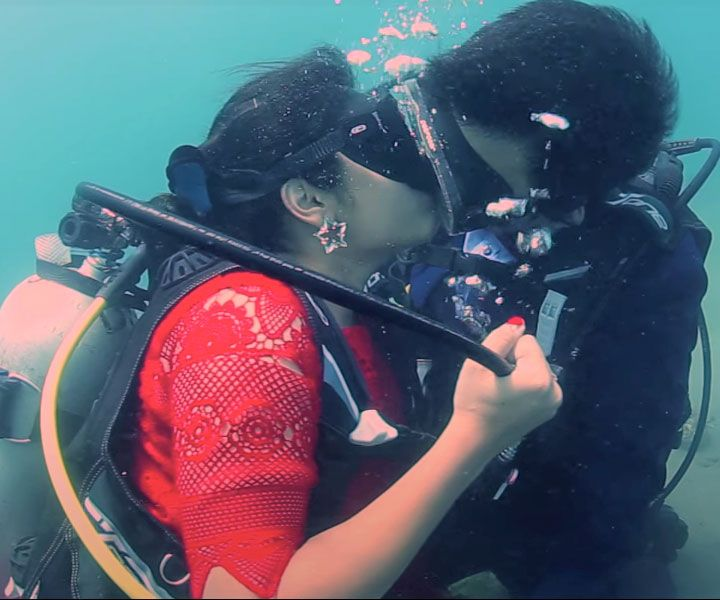 Underwater Wedding At Havelock Island